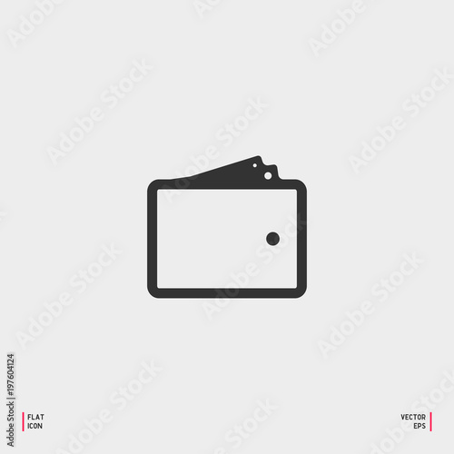 wallet icon in trendy flat style isolated on grey background wallet symbol for your web site buy this stock vector and explore similar vectors at adobe stock adobe stock wallet icon in trendy flat style