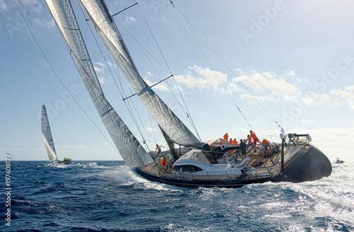 Papiers peints Nautique motorise Sailing yacht race. Yachting. Sailing