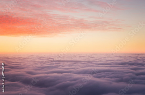 Sunset above the clouds with copy space - 197609985