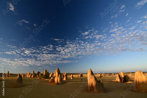 Foto auf Leinwand Ozeanien Sunrise in Pinnacles desert. Nambung national park. Cervantes. Western Australia
