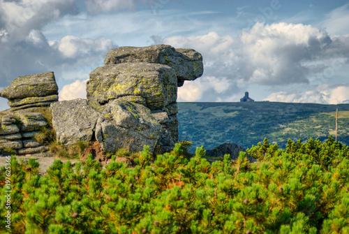 Obraz na plátně  Harrachove Kameny in Krkonose Mountain, Krkonoše, Krkonose above Spindleruv Mlyn