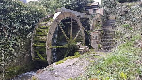 Aluminium Prints Mills Old wooden waterwheel