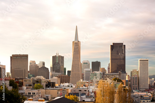 Wall Murals San Francisco Skyline of Financial district, San Francisco, California, USA