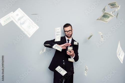 Photo  Spectacles jackpot entrepreneur economist banker chic posh manager jacket concept