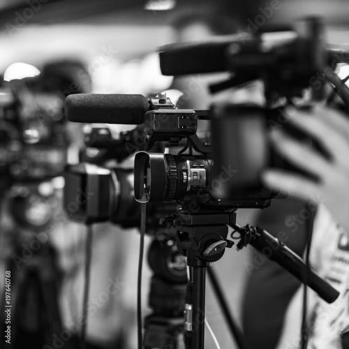 Camera at media conference #197640768