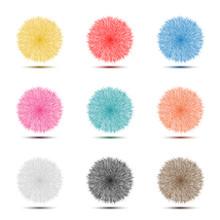 Set Of Colorful Pompon Fluffy ...