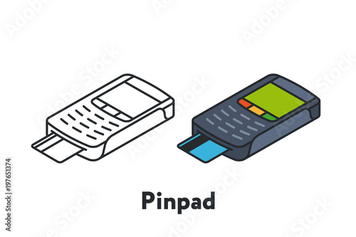 Isometric pin pad card payment terminal pos minimal flat line isometric pin pad card payment terminal pos minimal flat line outline stroke icon publicscrutiny Gallery