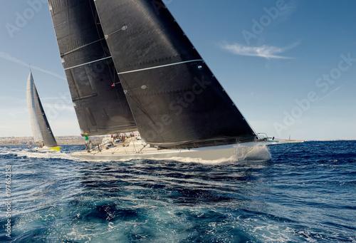 Sailing yacht race. Yachting. Sailing Fototapeta