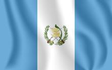 Flag Of Guatemala. Realistic W...