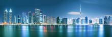 Dubai Skyline After Sunset Wit...