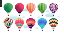 Hot Air Balloons - Set Of Vari...