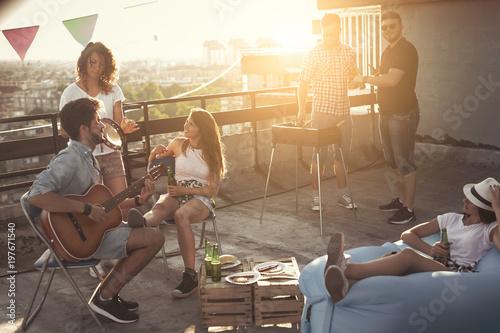 Cuadros en Lienzo Rooftop barbecue