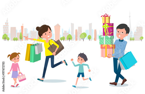 Present for loved ones_Shopping with family