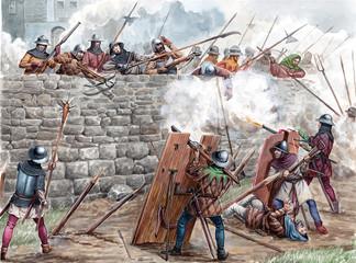 Medieval battle. Hussite wa...