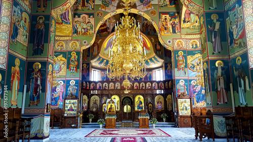 Valokuva  Interior of Orthodox Monastery from Romania