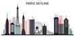 Paris skyline creative background