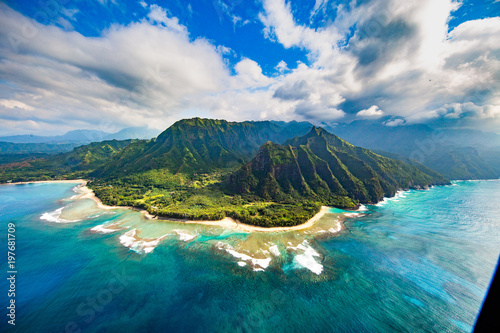Printed kitchen splashbacks Dark grey Na Pali Coast, Kauai