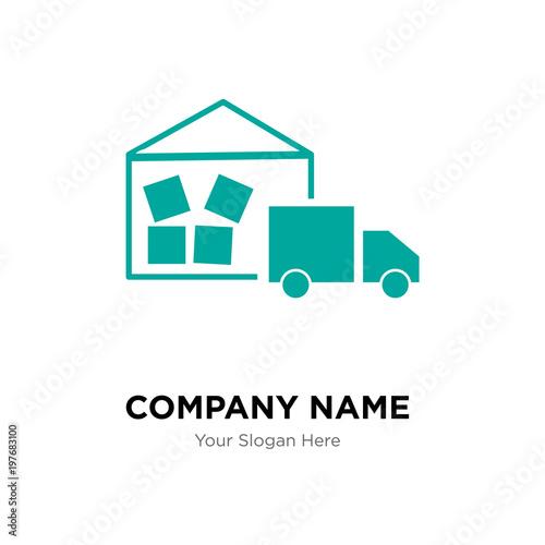 Warehouse Management Company Logo Design Template Business