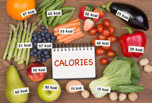 Fruits And Vegetables With Cal...