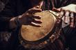 Leinwanddruck Bild - ethnic percussion musical instrument jembe