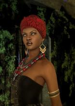 Portrait Of A Voodoo Queen In ...