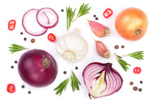 Red Onions, Garlic With Rosema...