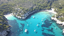 Aerial View From Drone Of A St...