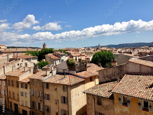 Photo View over rooftops in Aix en provence