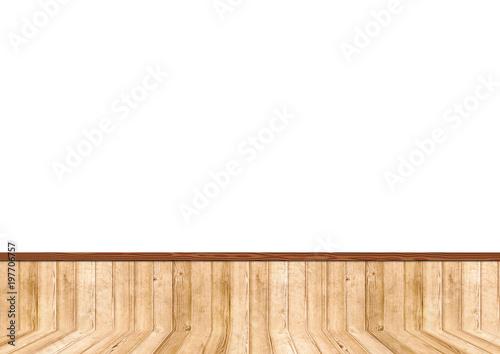 Fotografía  白い壁と木製の床