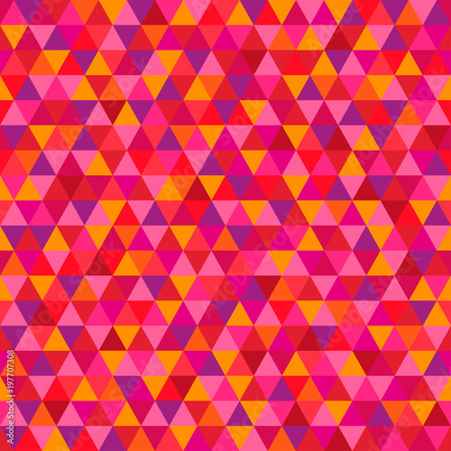 Seamless Triangle Pattern Multicolored Background Abstract