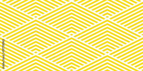 Fototapeta Summer background chevron pattern seamless yellow and white. obraz