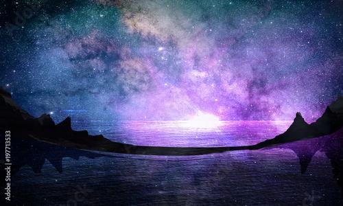 Fotografie, Tablou ночное небо