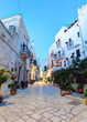 Old Town district in the early morning. Polignano A Mare, Italy.
