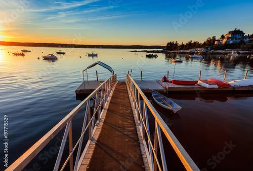 Fototapety, obrazy: Maine Harbor Sunset