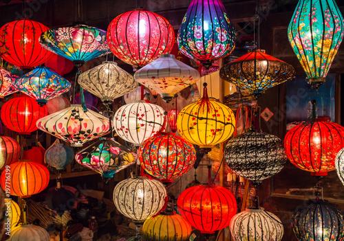 Asian lanterns in international lantern  festival Wallpaper Mural