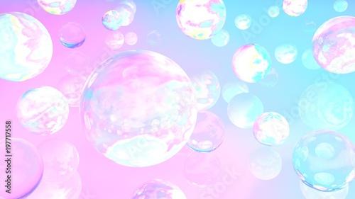 Photographie  Holographic bubbles