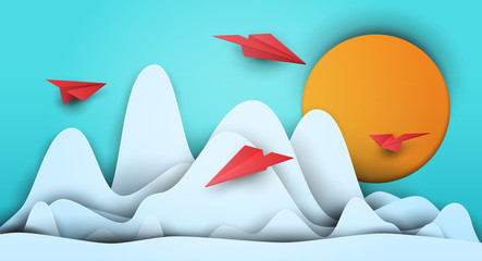 3d vector paper cut clouds ...