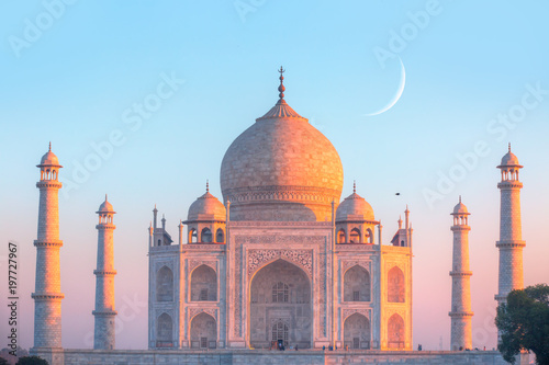 Fotografie, Obraz Taj Mahal at sunset - Agra, India