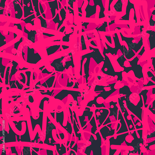 Fotografia Vector graffiti seamless pattern with abstract colorful bright t