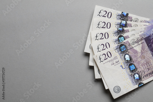 A collection of british sterling twenty pound notes