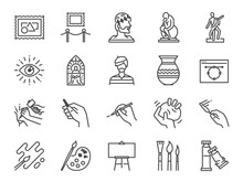Art Icon Set. Included The Ico...