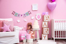 Beautiful Decorations For Baby Shower Party In Room