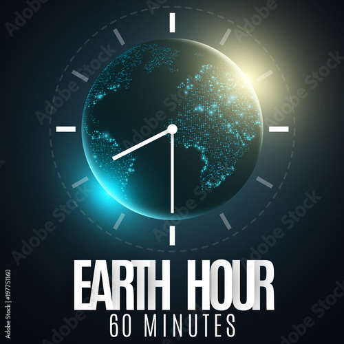 Earth hour futuristic planet earth 60 minutes without electricity earth hour futuristic planet earth 60 minutes without electricity 3d paper letters gumiabroncs Images