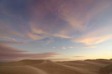 Algodones Dunes, California, USA. Sand Dunes. Sand Landscape. Sunset Sand Landscape. Sunset Dunes. Sand Dunes And Sunset Sky.