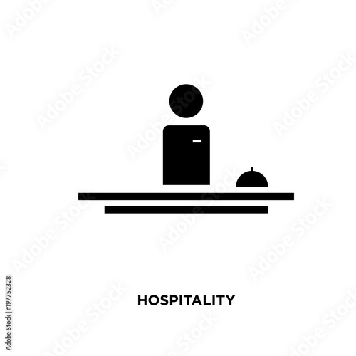 Fotografía  hospitality icon isolated on white background for your web, mobile and app desig