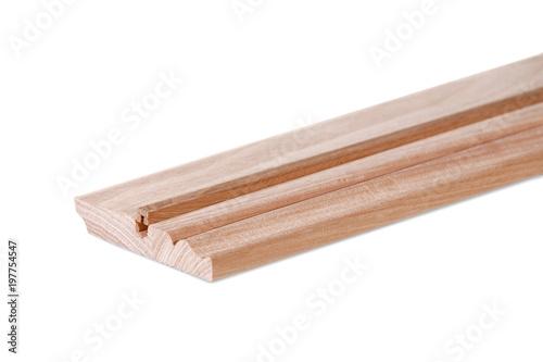 Fotografie, Obraz  wooden plinth on a white background