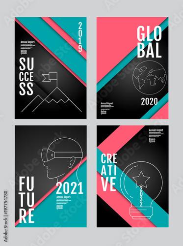 Fotografia  annual report 2019, 2020,2021,2022, future, business, template layout design, cover book