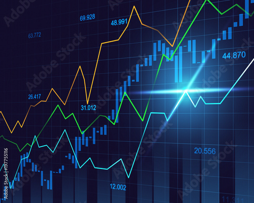 stock market or forex trading graph in graphic concept buy this