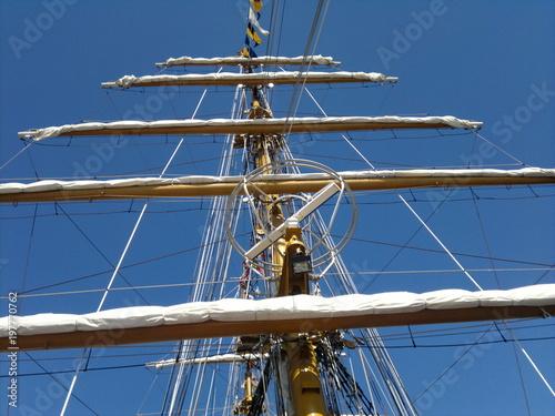 Fotografie, Obraz  Rigging on old sailingship