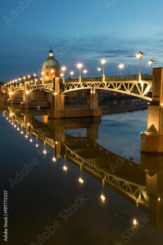 Foto auf AluDibond Stadt am Wasser Pont Saint pierre, Toulouse